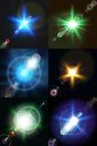 六明亮的多彩多姿的星传染媒介 库存图片
