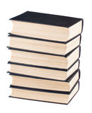 六本黑盖子书 库存图片