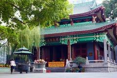 六棵印度榕树寺庙  库存照片