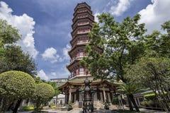 六棵榕树寺庙在广州,中国 免版税库存照片