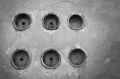 六电力米联盟在葡萄酒墙壁上的 免版税库存图片