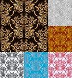 六花卉无缝的样式传染媒介背景 库存例证