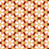 六角几何样式 免版税库存图片