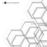 六角几何背景 您的设计和文本的企业介绍 最小的图表概念 EPS 10股票 皇族释放例证