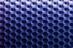 六角墙壁纹理表面 蓝色梯度摘要样式背景 图库摄影
