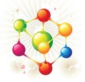 六角形分子 皇族释放例证