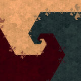 六角形分数维 库存图片
