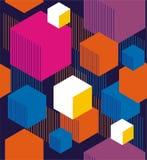 六角形和立方体 免版税库存照片