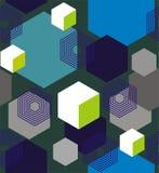 六角形和立方体 免版税图库摄影