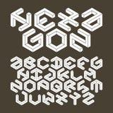 六角形字母表由不可能的形状做成 皇族释放例证