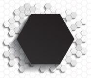 六角形平的背景 库存照片