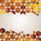 六角形抽象背景横幅  免版税库存图片