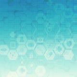 六角形抽象医疗背景 免版税库存图片