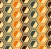 六角形无缝的模式-减速火箭的颜色-向量 免版税库存照片