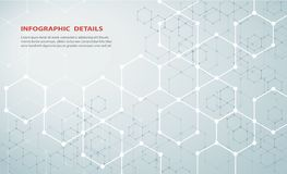 六角形构思设计摘要技术背景传染媒介EPS10形状  图库摄影