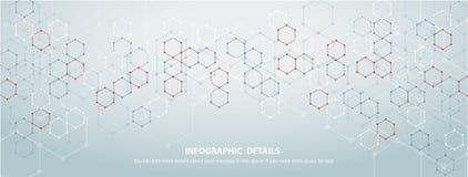 六角形构思设计摘要技术背景传染媒介EPS10形状  库存图片