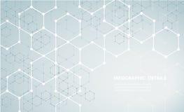 六角形构思设计摘要技术背景传染媒介EPS10形状  向量例证