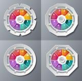 六角形模板infographic设计 免版税库存图片