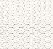 六角形灰色传染媒介简单的无缝的样式 免版税库存照片
