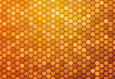从六角形的抽象背景 库存例证