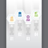 六角形的立方体Infographic 免版税库存图片