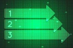六角形的代码 免版税库存照片