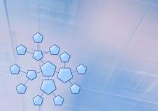 六角形系统 皇族释放例证