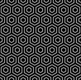 六角形纹理。无缝的几何样式 免版税库存照片