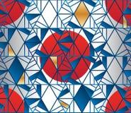 六角形线型日本太阳织品无缝的样式 向量例证
