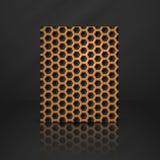 六角形金属横幅。 库存照片