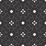 六角形阻拦了无缝的样式背景 免版税库存照片