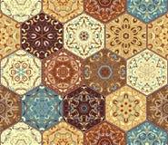 六角形集合模板 库存照片