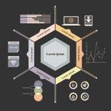 六角形infographics 免版税库存图片