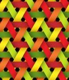 六角明亮的塑料编篮艺品 库存例证