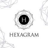 六角星形传染媒介多角形商标信件H 向量例证