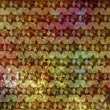 六角星形,大卫特征模式老金属背景 免版税库存照片