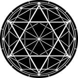 六角星形 也corel凹道例证向量 库存照片