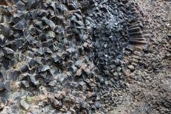 六角石头自然样式背景  库存图片