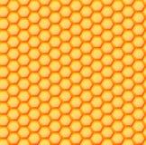 六角蜂窝无缝的背景  免版税库存照片