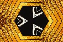 六角设计的金子 向量例证
