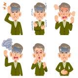六资深男性病症的症状 库存例证