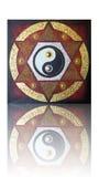 六针对性的星的尹杨 免版税图库摄影