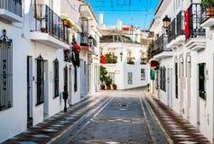 兰乔多明戈美丽如画的街道  西班牙 图库摄影