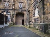 兰卡斯特城堡和前监狱在英国在城市的中心 库存照片