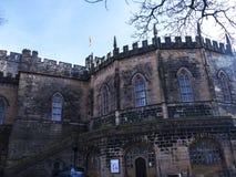 兰卡斯特城堡和前监狱在英国在城市的中心 图库摄影