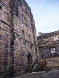 兰卡斯特城堡和前监狱在英国在城市的中心 免版税库存图片