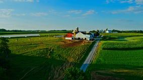 兰卡斯特的农场和领域 免版税库存照片