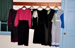 兰卡斯特, PA :门诺派中的严紧派的妇女` s衣物 免版税图库摄影