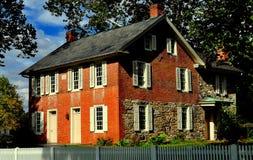 兰卡斯特, PA :1830 Landis宅基 库存图片