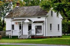 兰卡斯特, PA :Landis博物馆的教堂司事的议院 库存照片